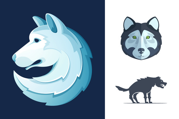 3 Wolf Icons
