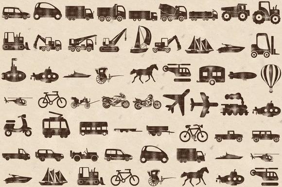Wood Stamped Transportation