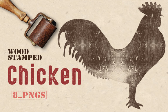 Wood Stamped Chicken