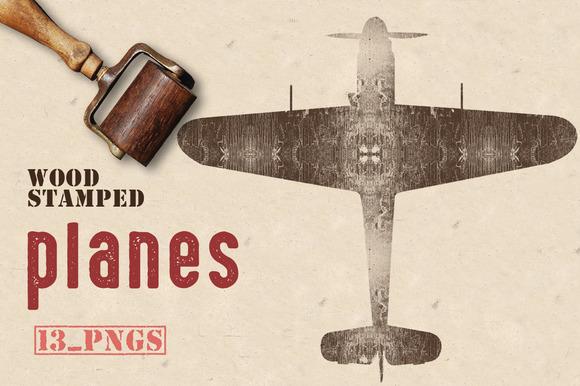 Wood Stamped Planes