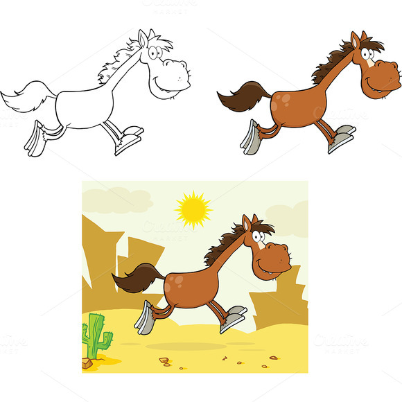 stampede of horses coloring pages - photo#26