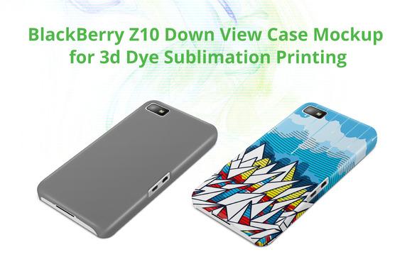 BB Z10 3D Case Down Mock-up