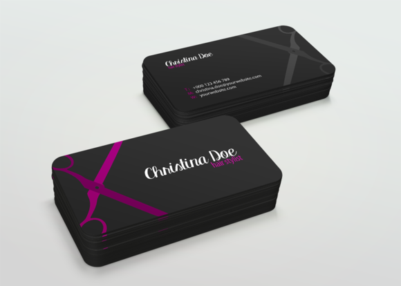 Simple Hairstylist Business Card