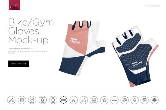 Bike Gym Gloves Mock-up