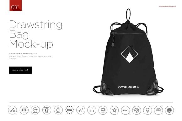 Drawstring Bag Mock-up