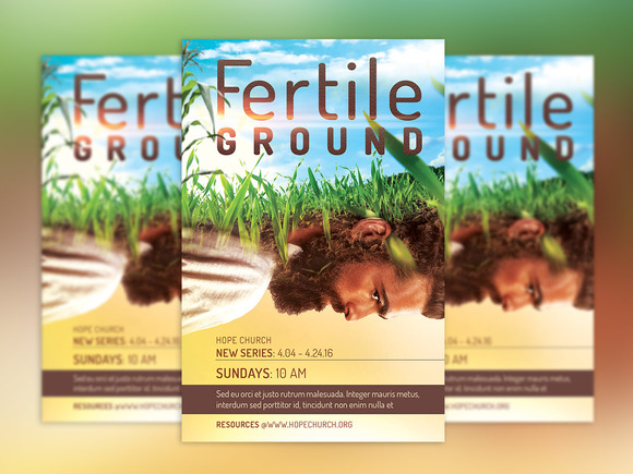 Fertile Ground Flyer And Poster-PSD