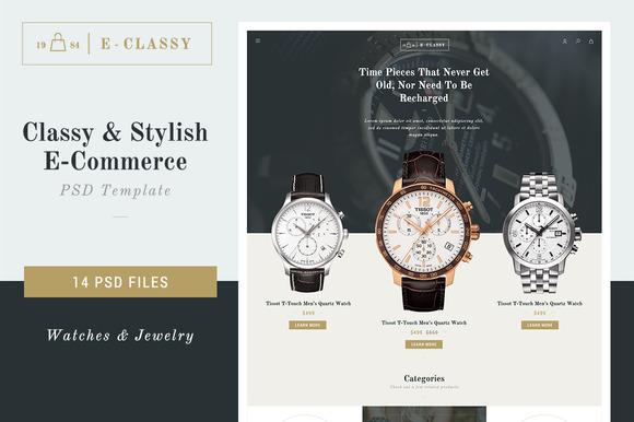 E-Classy Luxury Shop PSD Template
