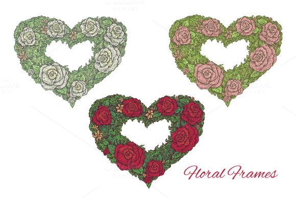 Vector Floral Frames