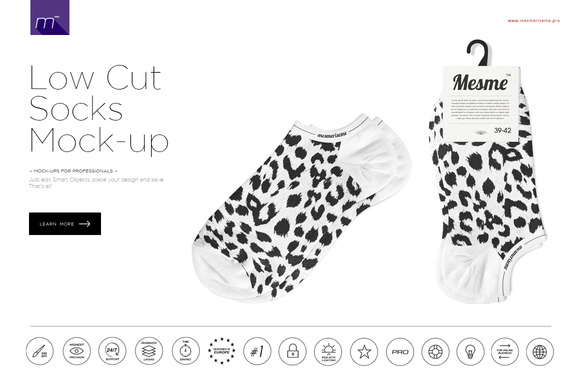 Low Cut Socks Mock-up