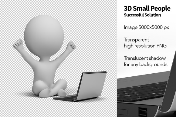 3D Small People Solution