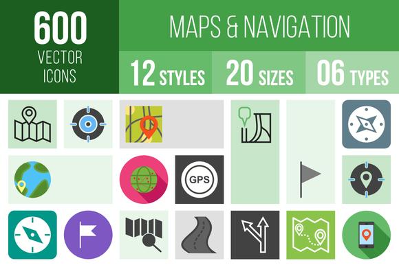 600 Maps Navigation Icons