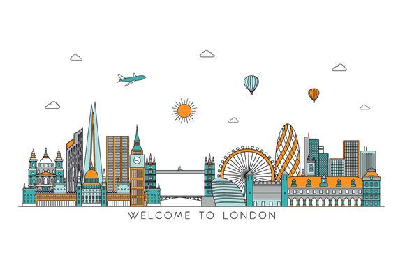 London Line Detailed Skyline
