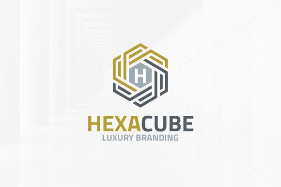Hexa Cube Letter Logo