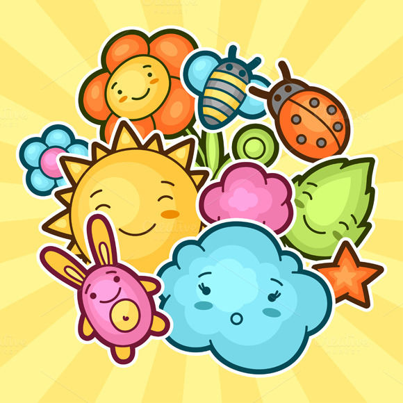 Cute Child Backgrounds With Kawaii