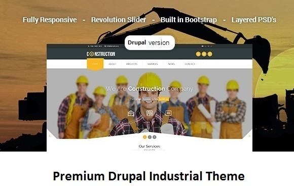 Construction Industrial Drupal