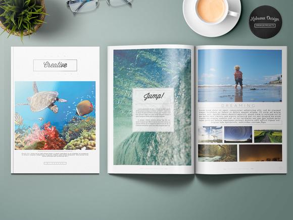 Creative Black White Brochure