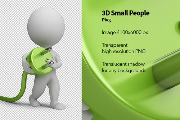 3D Small People Plug