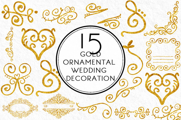 Gold Ornamental Wedding Decoration