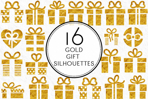 Gold Gift Silhouettes