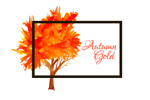 Ўн67 Autumn Gold Trees Vector