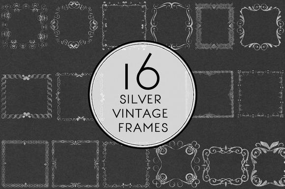 Silver Vintage Frames