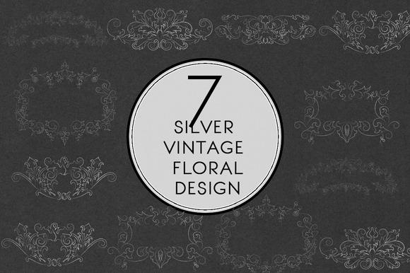 Silver Vintage Floral Design