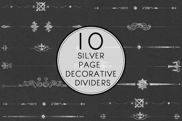 Silver Page Decorative Dividers