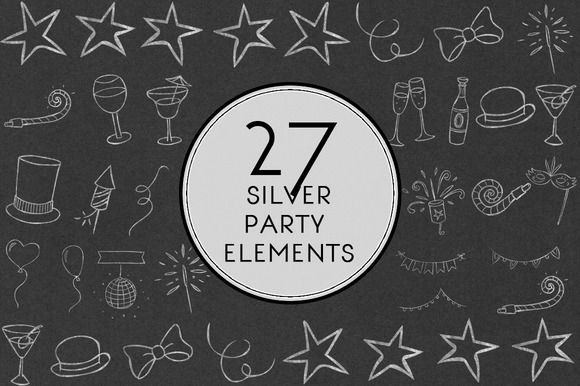 Silver Party Elements