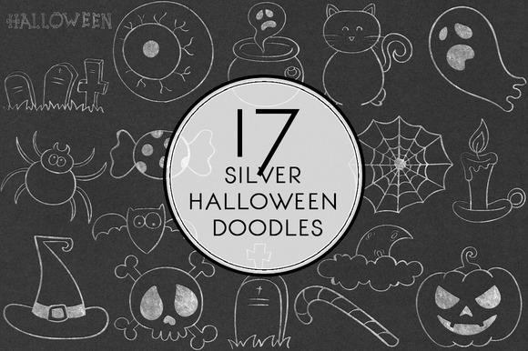 Silver Halloween Doodles