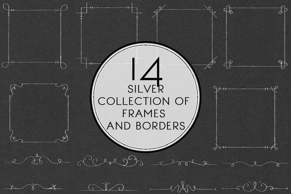 Silver Collection Of Frames Border