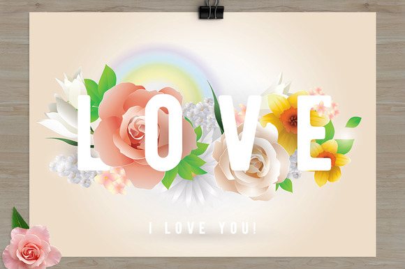 Greeting Card With Love Inscription