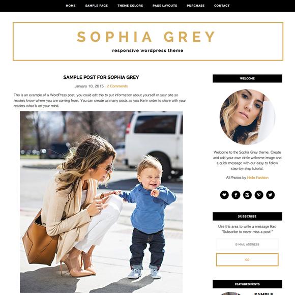 Sophia Grey WordPress Theme