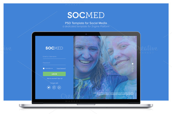 Socmed Social Media Template PSD