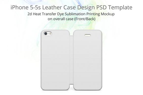 IPhone 5s Flip Case Full Print Mocku
