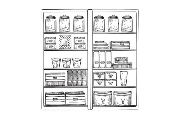 Hand Drawn Pantry Sketch