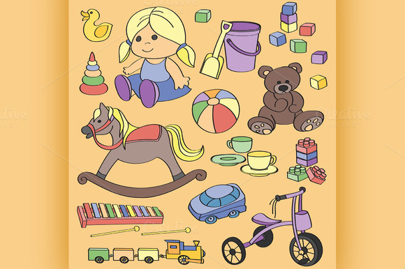 Doodle Vector Toys