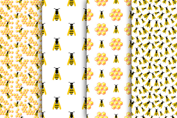Seamless Patterns With Wasps