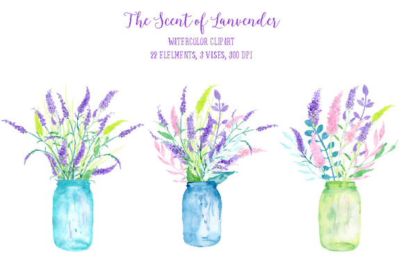 Watercolor The Scent Of Lavender