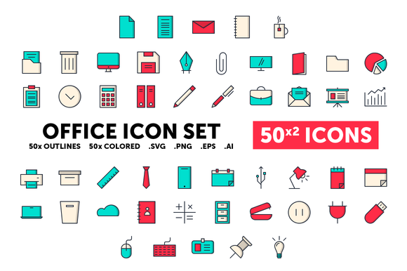 Office Icon Set 50 Icons