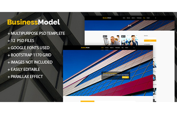 BusinessModel Business PSD Theme