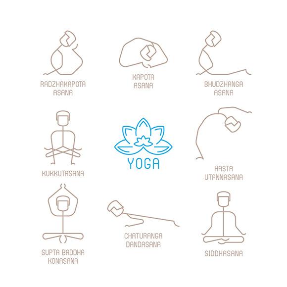Line Art Yoga : Pictures of stick yoga poses designtube creative