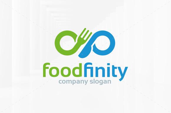 Food Infinity Logo Template