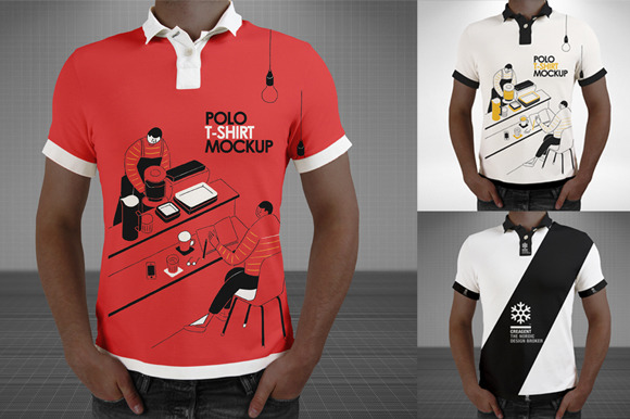 Free download polo shirt mockup psd designtube for Free polo shirt mockup