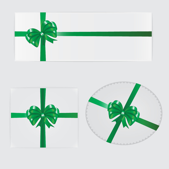Green Bow Ribbon And Gifts