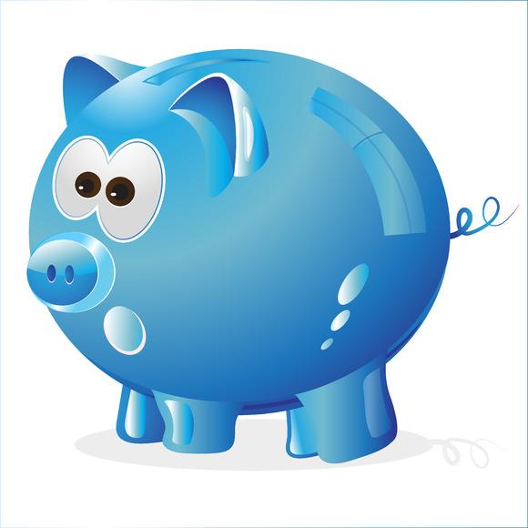 Piggy Money Box Money Bank Blue
