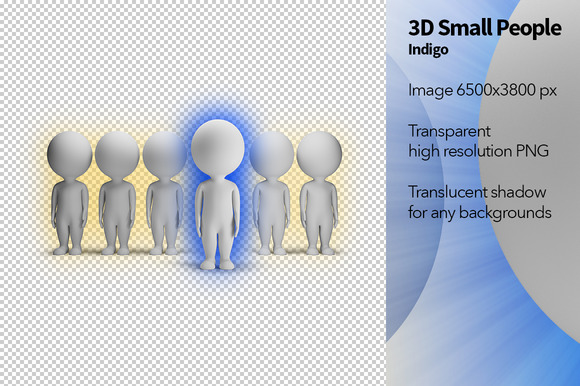 3D Small People Indigo