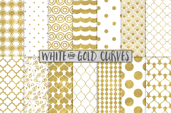 White And Gold Foil Backgrounds