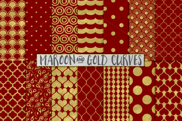 Maroon And Gold Foil Backgrounds