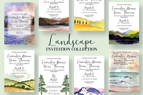 Landscape Invitation Collection