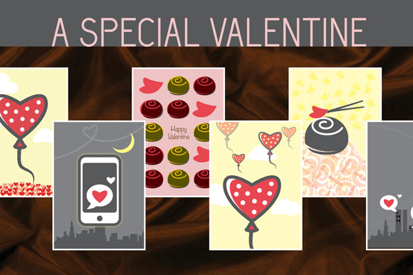 Valentine Love Greeting Card Set